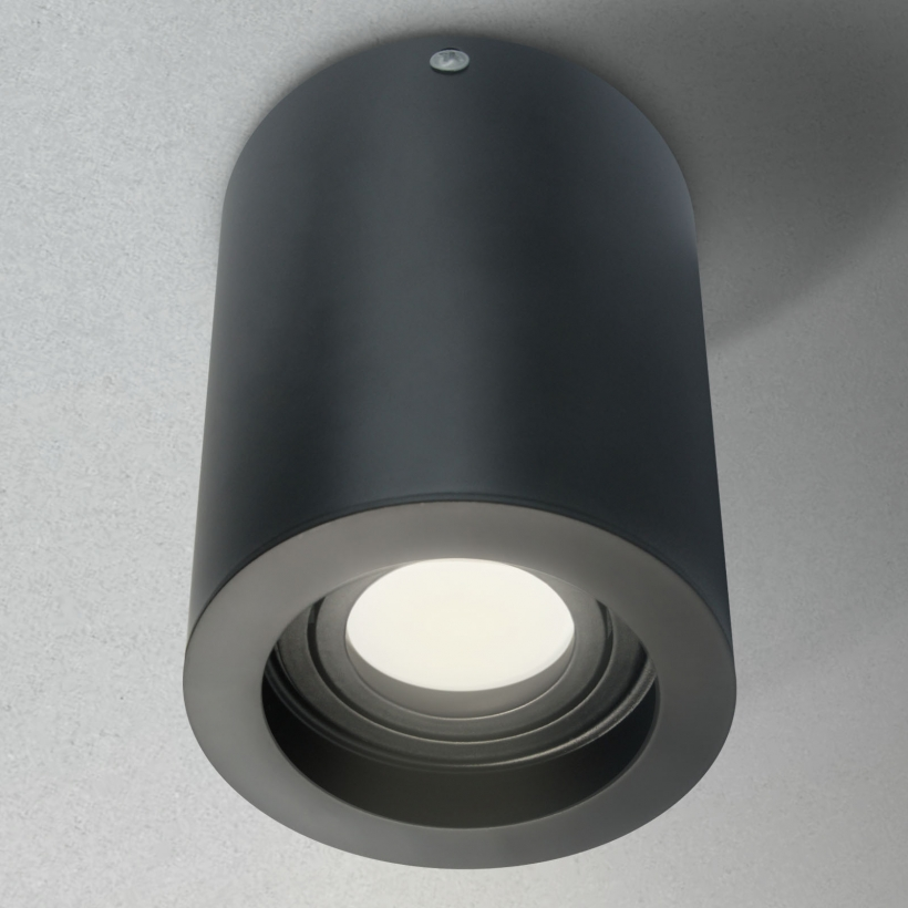 led aufbauleuchte rund schwarz schwenkbar 230v ledhagen leuchten und leuchtmittel. Black Bedroom Furniture Sets. Home Design Ideas