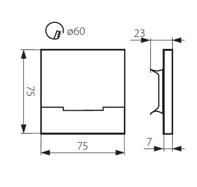 Häufig LED Treppenlicht eckig warmweiß 12V/230V - LEDHAGEN Leuchten und AP17
